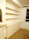 N2-East-Finchley fitted made to measure floating shelves
